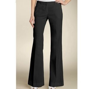 Theory Flare Linen Blend Black Trousers Pants